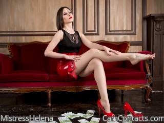 Live sex with Dominatrix MistressHelena grasps to be cruel