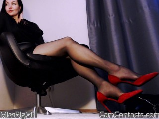 Cam2cam with London Mistress MissBigGirl fancies a weak male